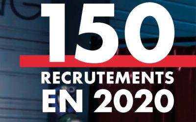150 recrutements en 2020.