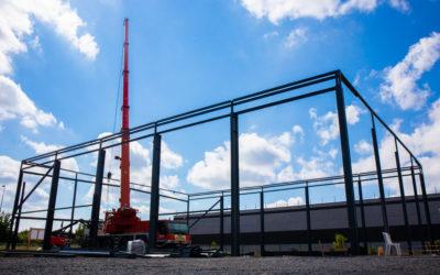 Douai : Maser Engineering pose la 1ère pierre de son nouveau bâtiment à Flers-en-Escrebrieux